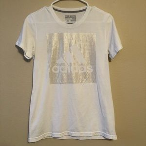 Adidas Gold Go-To Performance Tee—S
